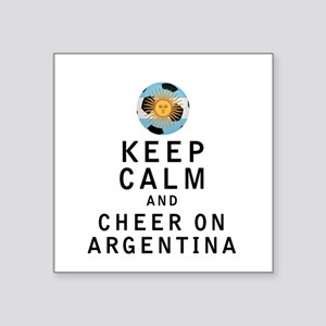 Keep Calm and Cheer On Argentina Sticker