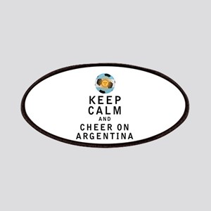 Keep Calm and Cheer On Argentina Patches