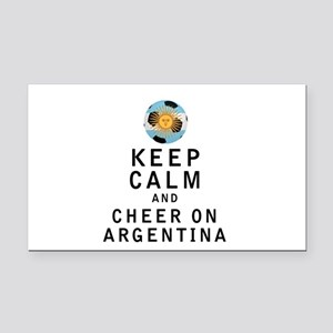 Keep Calm and Cheer On Argentina Rectangle Car Mag