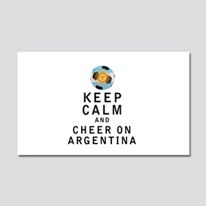 Keep Calm and Cheer On Argentina Car Magnet 20 x 1