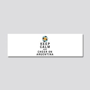 Keep Calm and Cheer On Argentina Car Magnet 10 x 3