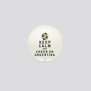Keep Calm and Cheer On Argentina Mini Button