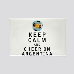 Keep Calm and Cheer On Argentina Magnets