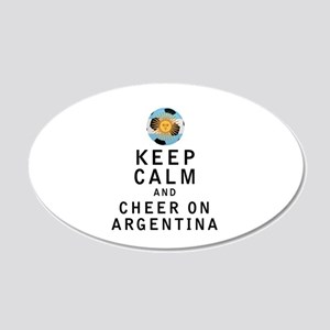 Keep Calm and Cheer On Argentina Wall Decal