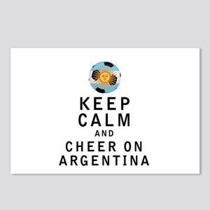 Keep Calm and Cheer On Argentina Postcards (Packag