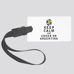 Keep Calm and Cheer On Argentina Luggage Tag