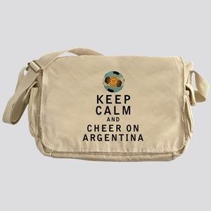 Keep Calm and Cheer On Argentina Messenger Bag