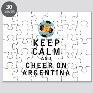 Keep Calm and Cheer On Argentina Puzzle