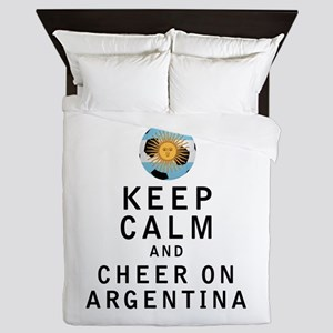 Keep Calm and Cheer On Argentina Queen Duvet