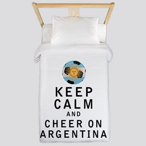 Keep Calm and Cheer On Argentina Twin Duvet