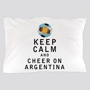 Keep Calm and Cheer On Argentina Pillow Case
