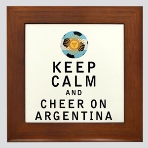 Keep Calm and Cheer On Argentina Framed Tile
