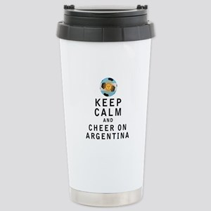 Keep Calm and Cheer On Argentina Travel Mug
