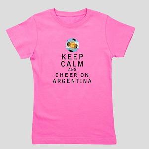 Keep Calm and Cheer On Argentina Girl's Tee