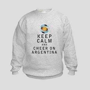 Keep Calm and Cheer On Argentina Sweatshirt