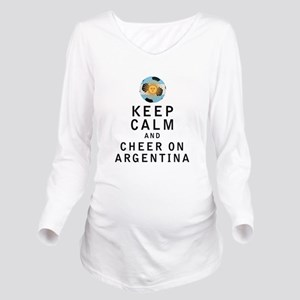 Keep Calm and Cheer On Argentina Long Sleeve Mater