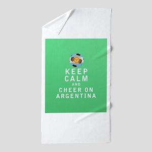 Keep Calm and Cheer On Argentina - FULL Beach Towe