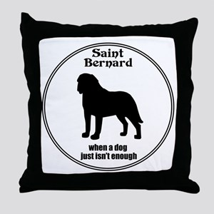 Saint Enough Throw Pillow