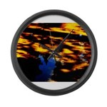 Arrival of darkness Large Wall Clock