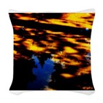 Arrival of darkness Woven Throw Pillow