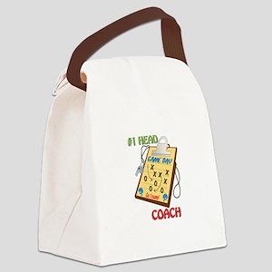 #1 Head Coach Canvas Lunch Bag