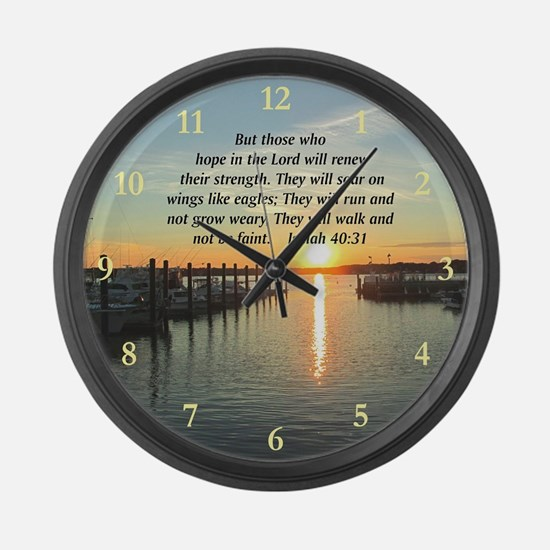 ISAIAH 40:31 Large Wall Clock
