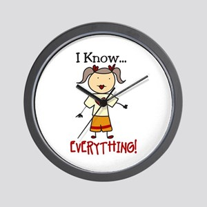 I Know Everything Wall Clock