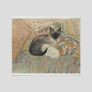 Steinlen Cat with kitten Throw Blanket