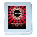 Thomas Jefferson Tea Party baby blanket