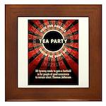 Thomas Jefferson Tea Party Framed Tile