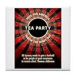 Thomas Jefferson Tea Party Tile Coaster