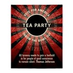Thomas Jefferson Tea Party Throw Blanket