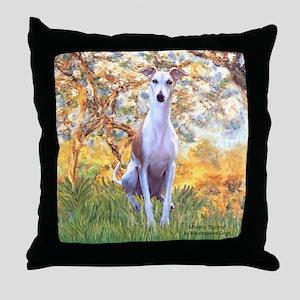 Spring / Whippet Throw Pillow