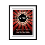 Thomas Jefferson Tea Party Framed Panel Print