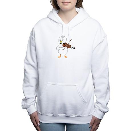 Violinist Women's Hooded Sweatshirt