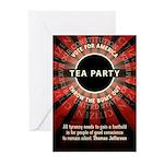 Thomas Jefferson Tea Party Greeting Cards