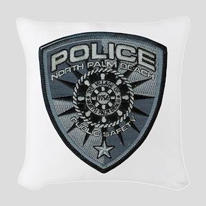 North Palm Beach Police Woven Throw Pillow