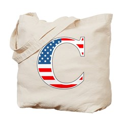 C stands for Colbert Tote Bag