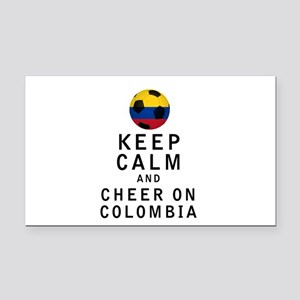 Keep Calm and Cheer On Colombia Rectangle Car Magn