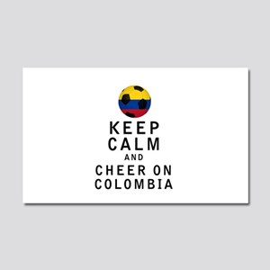 Keep Calm and Cheer On Colombia Car Magnet 20 x 12