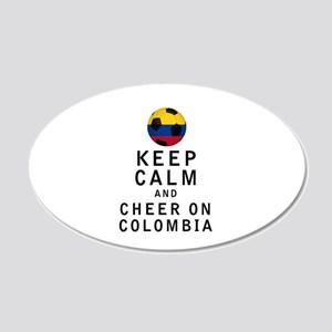 Keep Calm and Cheer On Colombia Wall Decal