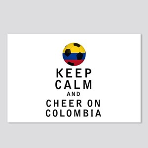 Keep Calm and Cheer On Colombia Postcards (Package