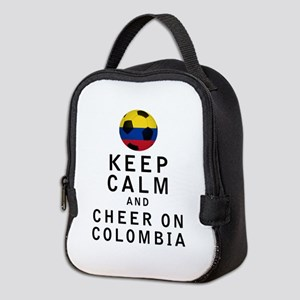 Keep Calm and Cheer On Colombia Neoprene Lunch Bag