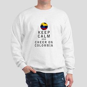 Keep Calm and Cheer On Colombia Sweatshirt