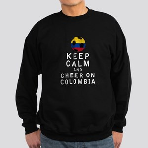 Keep Calm and Cheer On Colombia - White Sweatshirt