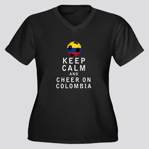 Keep Calm and Cheer On Colombia - White Plus Size