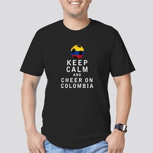 Keep Calm and Cheer On Colombia - White T-Shirt