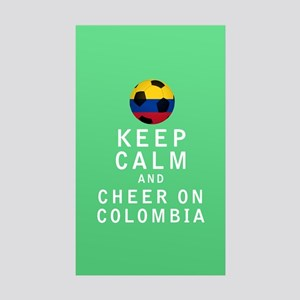Keep Calm and Cheer On Colombia FULL Sticker