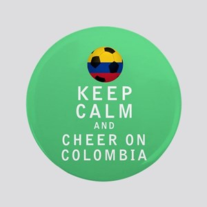 "Keep Calm and Cheer On Colombia FULL 3.5"" Button ("