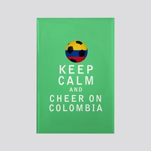Keep Calm and Cheer On Colombia FULL Magnets
